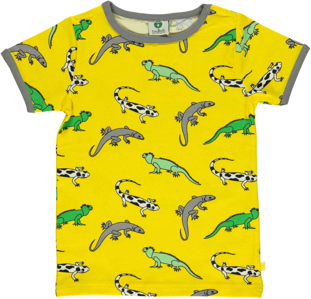 Smafolk - T-Shirt Yellow Lizard