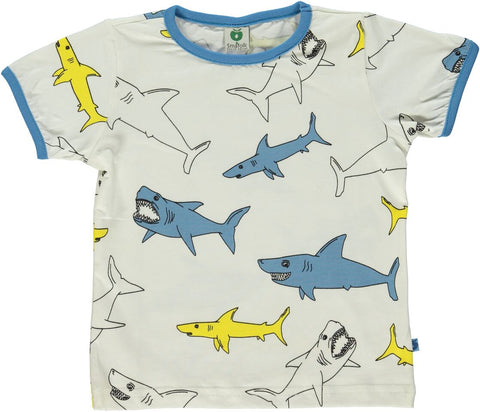 Smafolk T-Shirt Shark Cream - Haai Creme