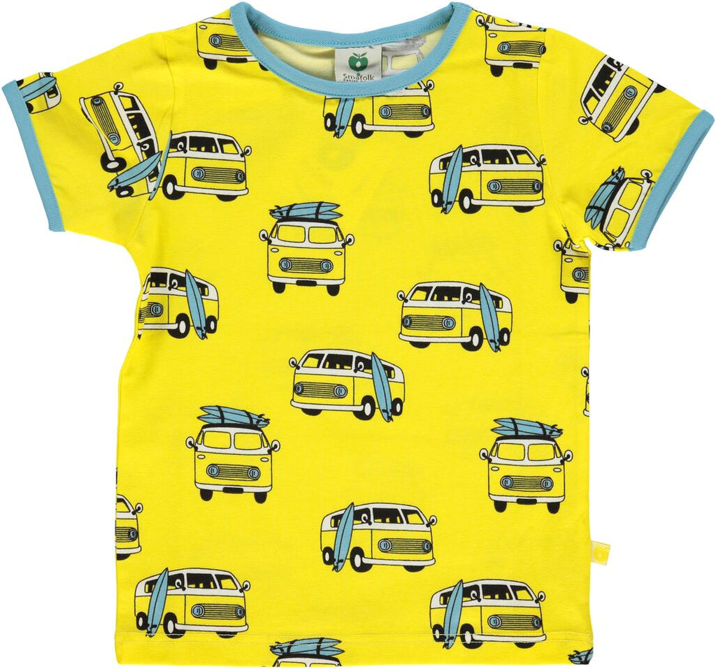 Smafolk T-Shirt Surf Car Yellow Maize
