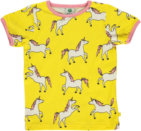 Smafolk T-Shirt Unicorn Yellow - Eenhoorn Geel