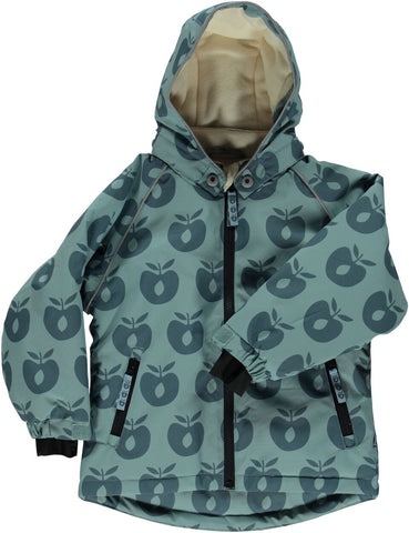Smafolk Winter Jacket Apples Stone Blue