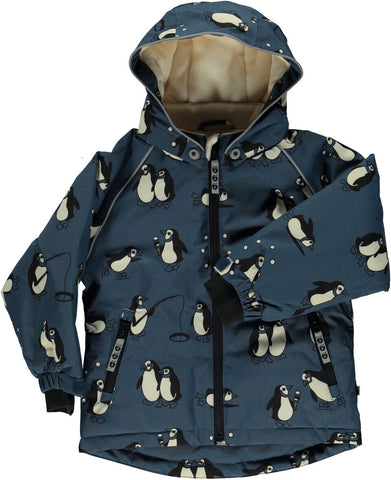Smafolk Winter Jacket Pinguins Bluestone