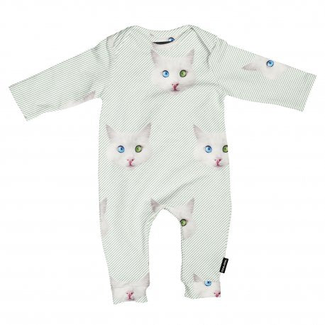Snurk - Jumpsuit Crazy Cat Eyes - Babypakje Kattenkop