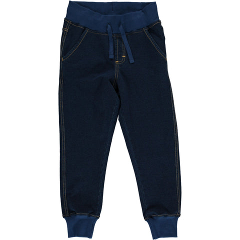 Maxomorra - Sweat Pants Solid Indigo - Jogging broek effen blauw