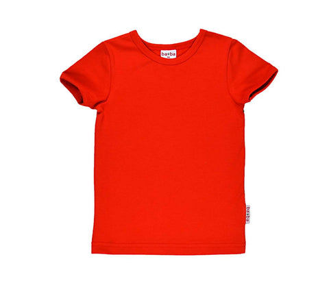 Baba*Babywear T-Shirt Girls Red - Oranjerood