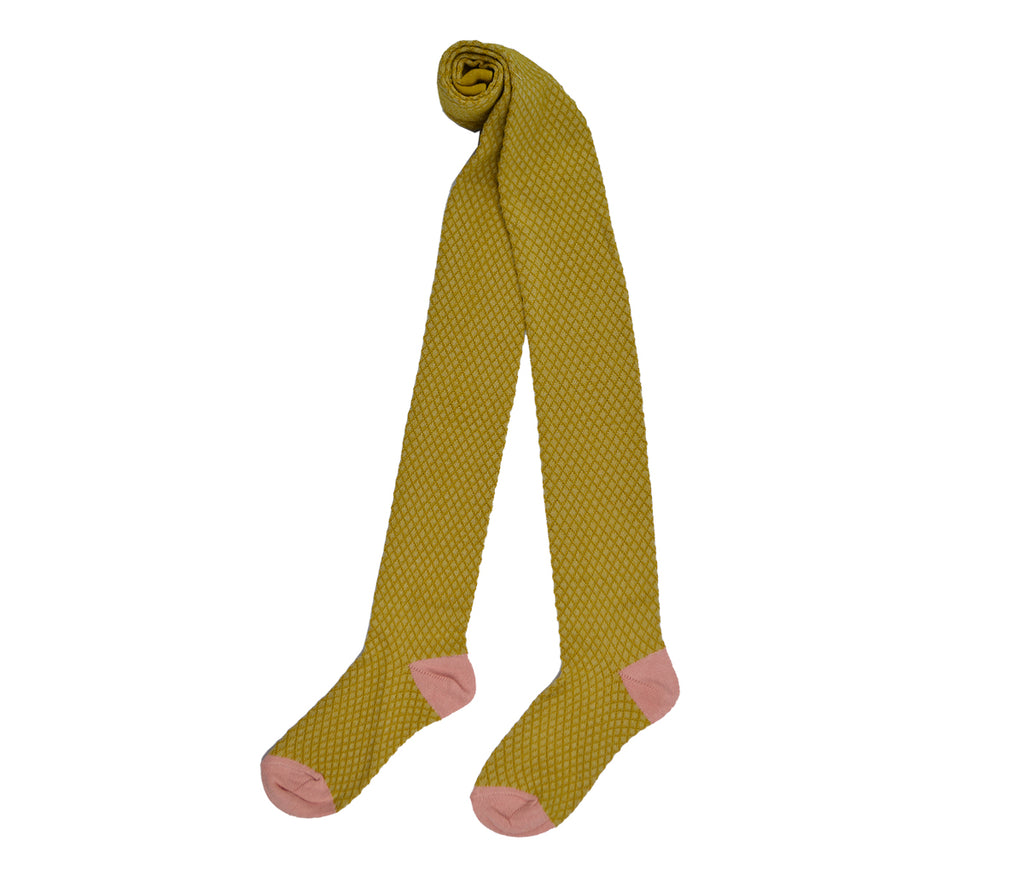 Baba Babywear - Tights Mustard - Pink Foot