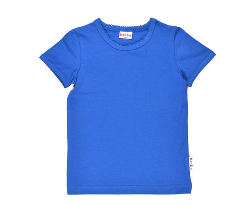 Baba*Babywear T-Shirt Girls Blauw - Blue Girlshirt
