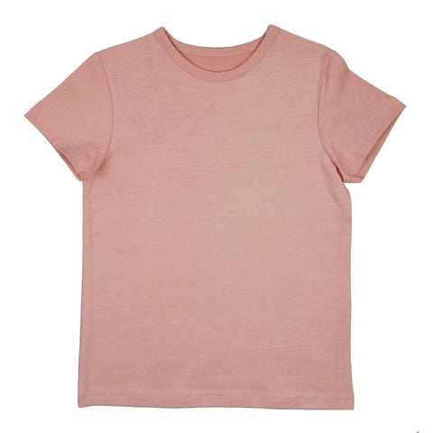 Baba Babywear - T-shirt Girls Rose - Effen Shirt Roze