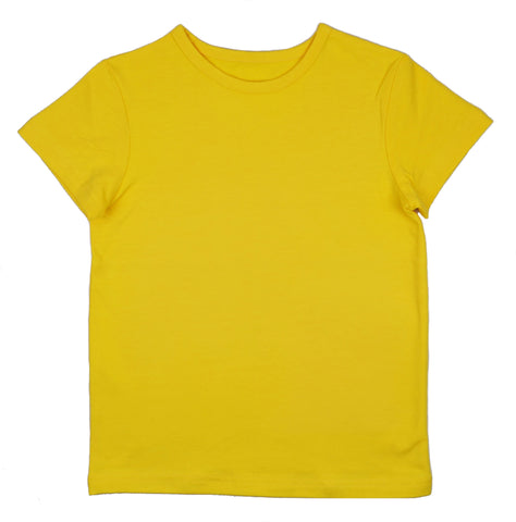 Baba Babywear - T-shirt Girls Lemon - Effen Shirt Lemon Geel