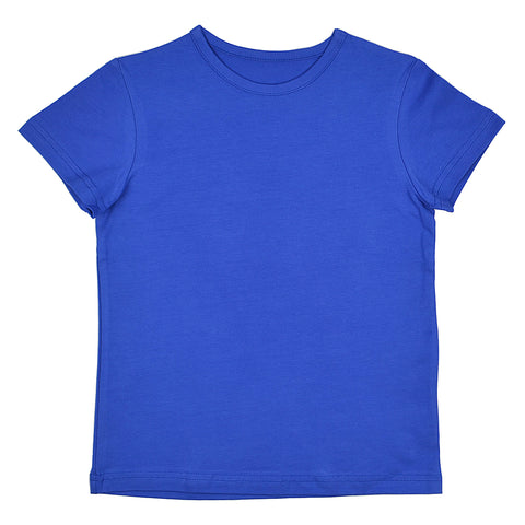 Baba Babywear - T-shirt Girls Turkish sea - Effen Shirt Kobalt Blauw