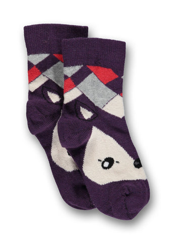Ubang Kletskous Vos Paars - Socks Fox Purple