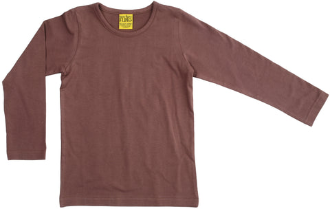 More Than A Fling Longsleeve Brown - Bruin Shirt Lange Mouw