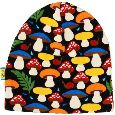 Duns Sweden - Beanie Double Layer Hat Mushroom Black Paddenstoelen