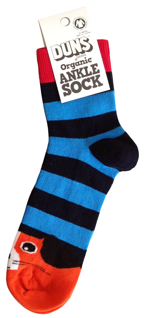 Duns Sweden Adults - Socks Dog Blue Striped - Honden Sokken