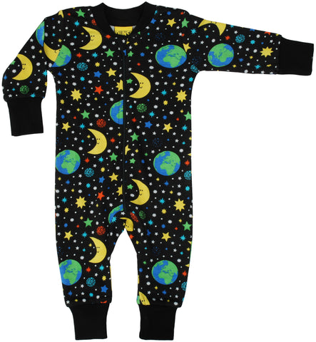 Duns Sweden - Zipsuit Mother Earth Black Slaappak Heelal