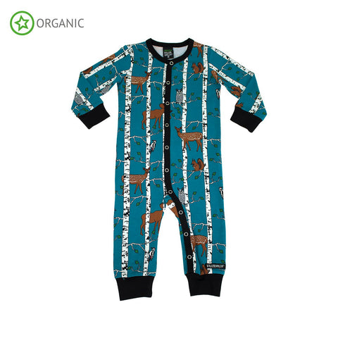 Villervalla - Jumpsuit Birch Animals Print Atlantic Blue