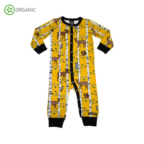 Villervalla - Jumpsuit Birch Animals Print Mosterd Yellow