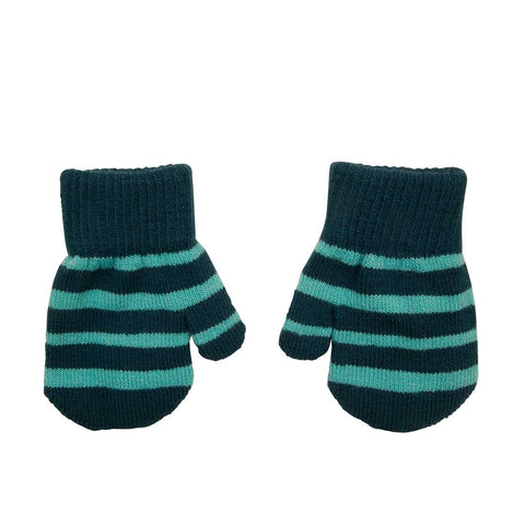 Villervalla - Mitten Gloves Dark Sea (Blue striped)