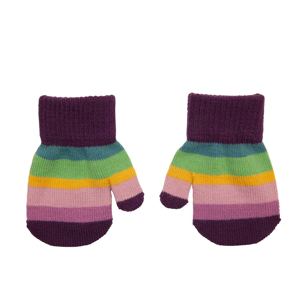 Villervalla - Mitten Gloves Asia (Purple striped) 1-3 jr