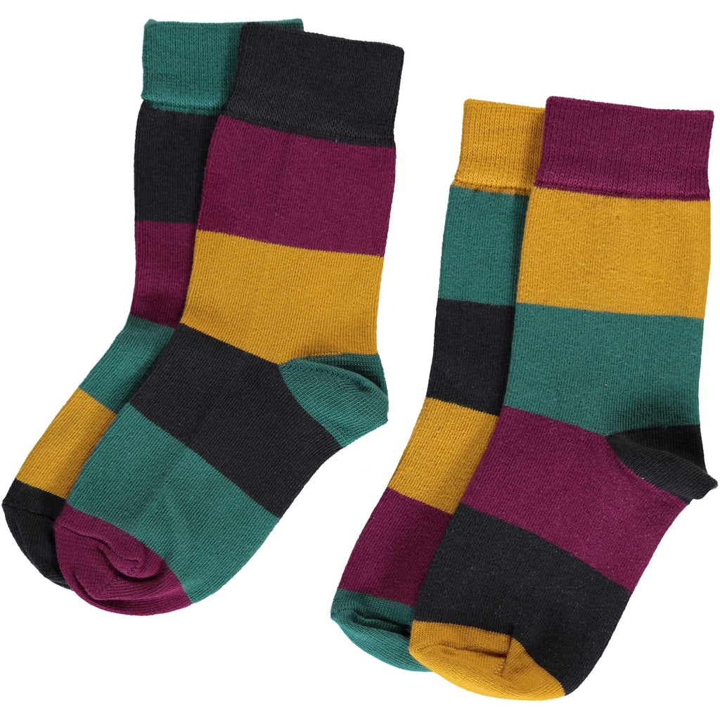 Maxomorra - Socks 2-pack Multi Town