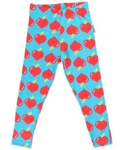 Maxomorra Tights Legging Turquoise Lovely Apples