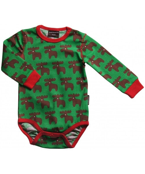 Maxomorra Body LS Moose - Romper Eland