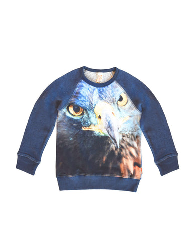 Wild - Sweater Jake Blue Eagle - Trui met Adelaar
