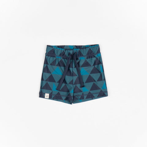 AlbaBaby Swimwear Gwen UV50+ Swim Shorts Blue Big Triangles
