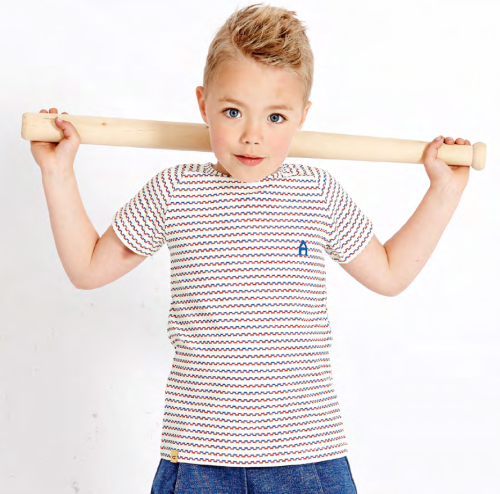 Albababy - Eddy T - Blue/Red Striped