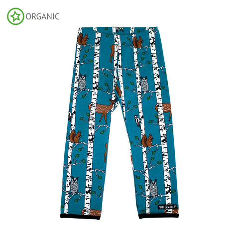 Villervalla - Leggings Birch Animals Atlantic - Blauw Berkenbos