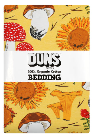 Duns Sweden Bedding Sunflowers & Mushrooms Sunshine Yellow - Dekbedovertrek Zonnebloemen & Paddenstoelen
