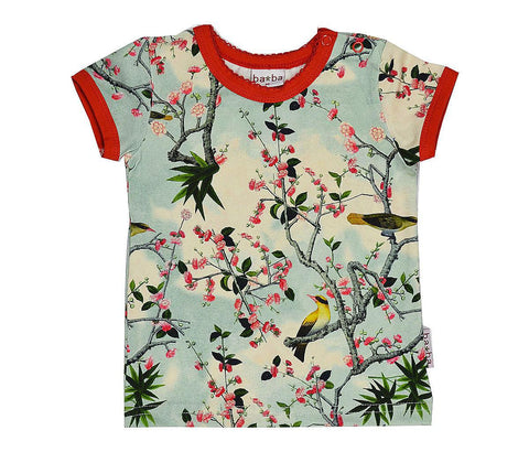 Baba*Babywear T-Shirt Gele Vogels Yellow Birds