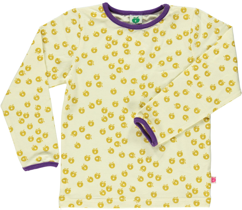 Smafolk - Longsleeve Apples Gold - Purple trim