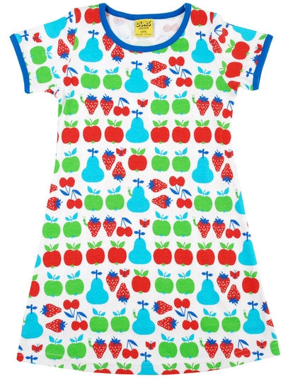 Duns Sweden Dress Shortsleeve Fruit - Jurk Aardbei, Appel, Kersen, Peren