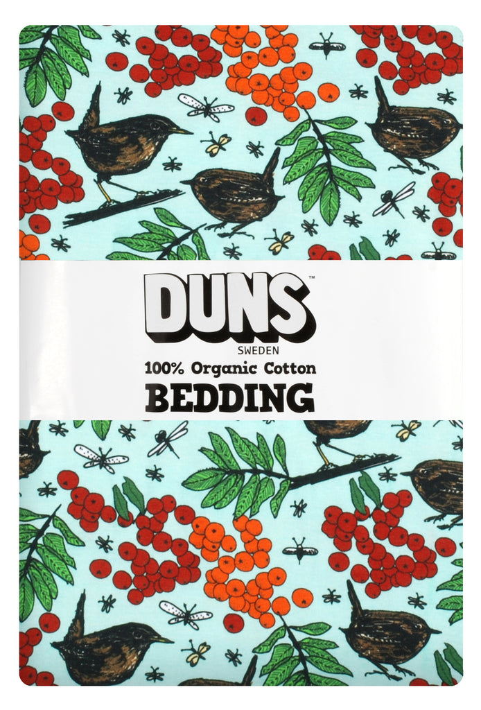 Duns Sweden Bedding 1 pers. Rowanberry  Pale Blue Green