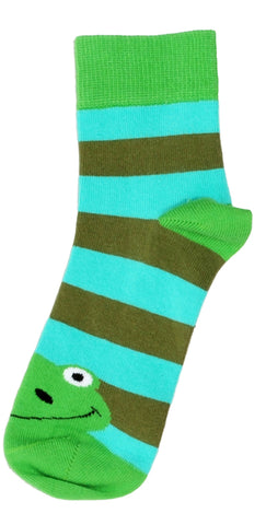 Duns Sweden Socks Frog Green/Turquoise Stripe