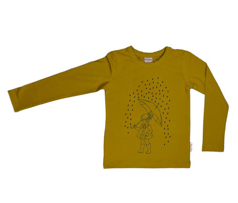Baba Babywear - Longsleeve Yellow Umbrella Girl