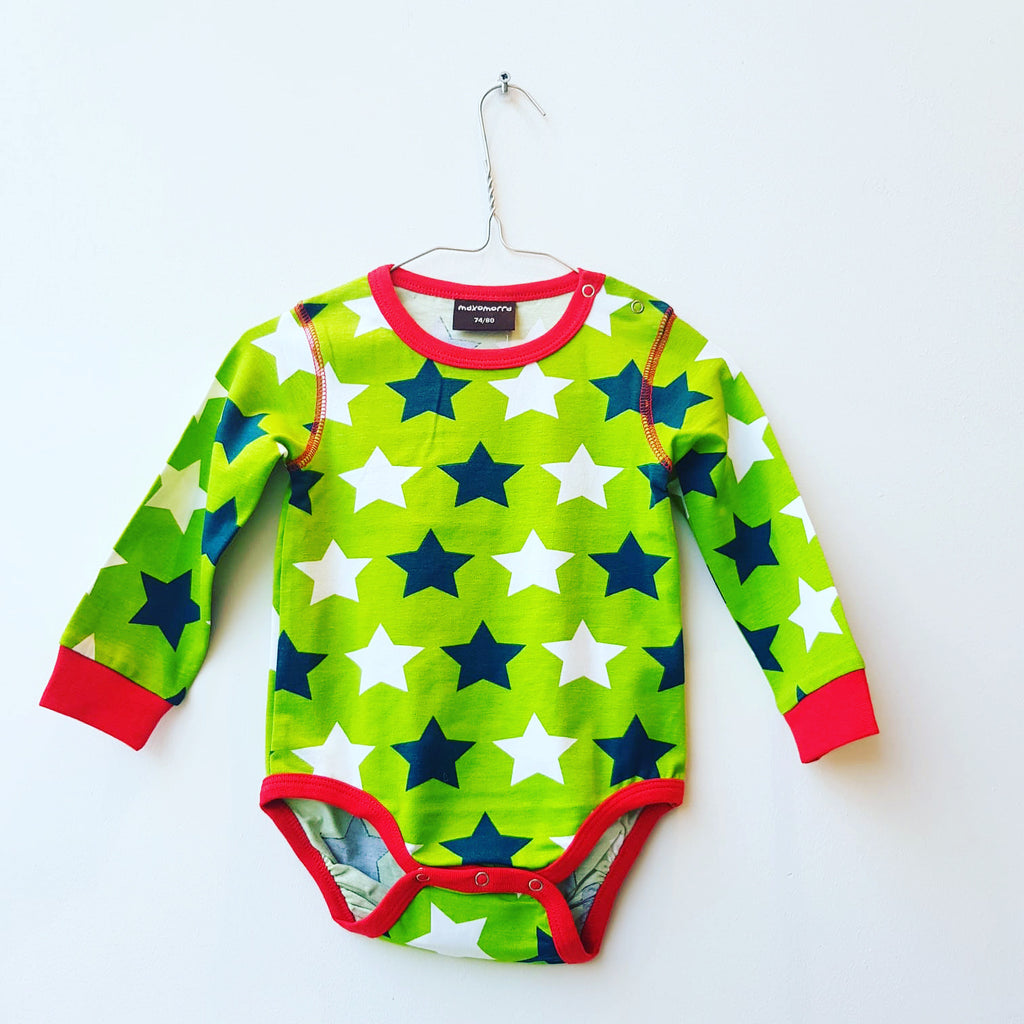 Maxomorra Body LS Stars Green
