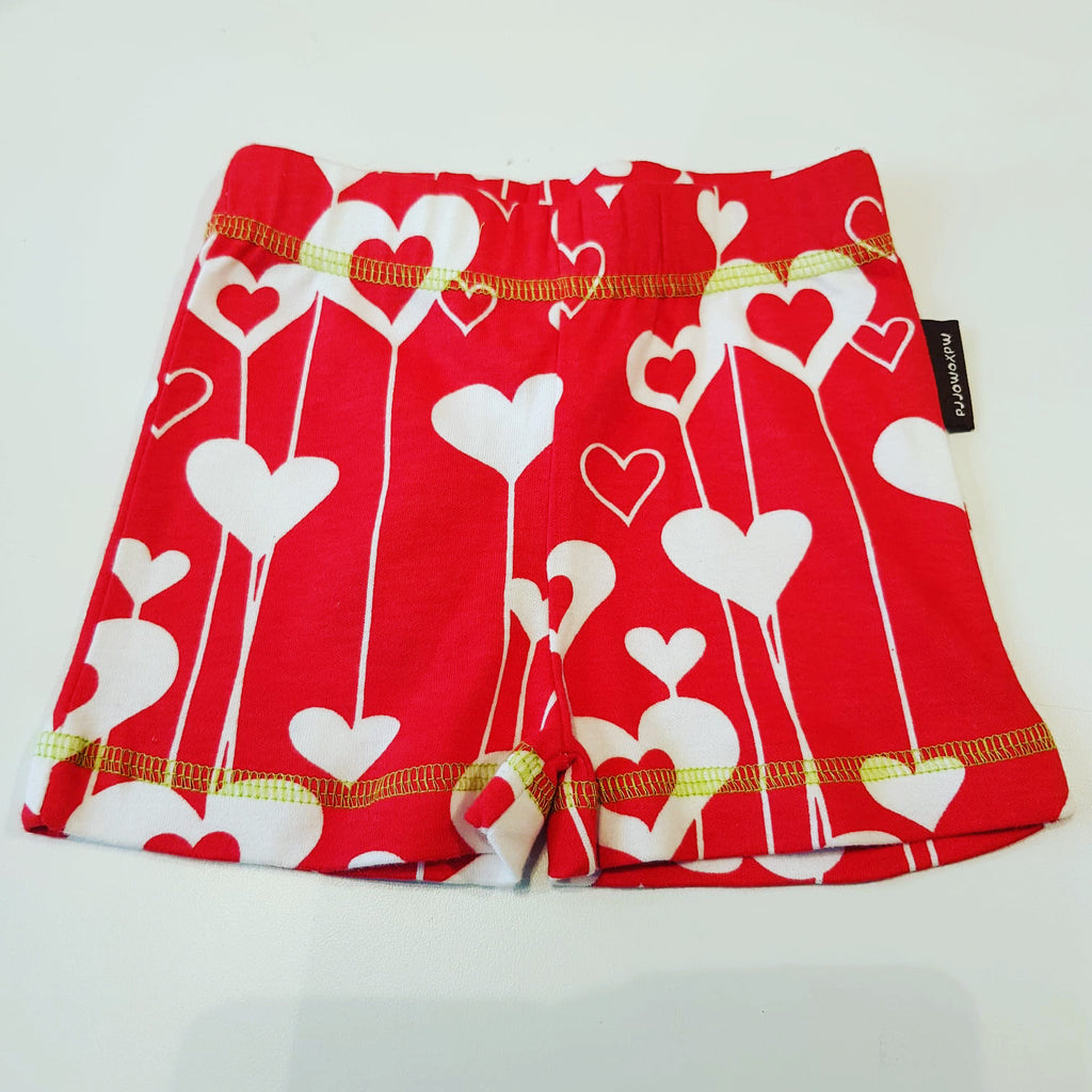 Maxomorra Baby Shorts Hearts