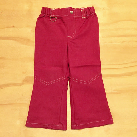 Moonkids Retro Pants Bordeaux Red Rood