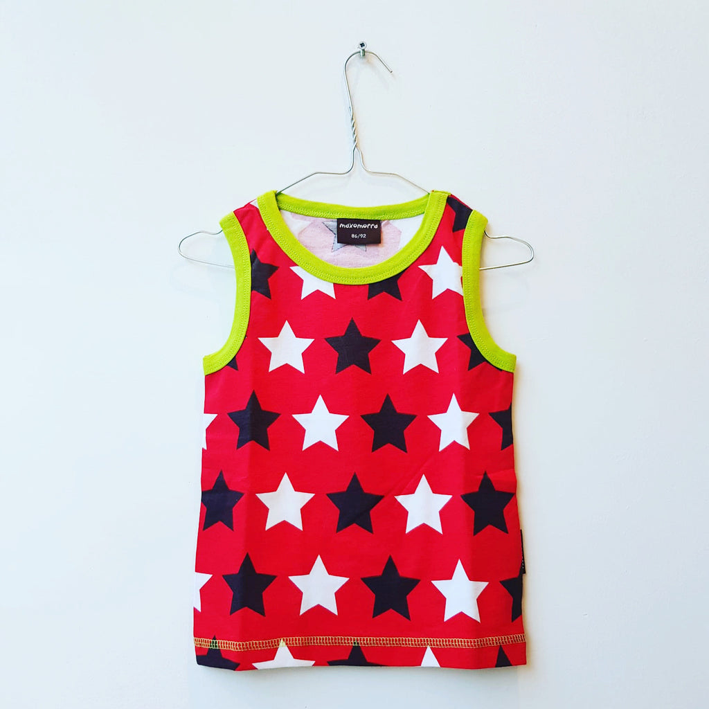 Maxomorra Tanktop Stars Red