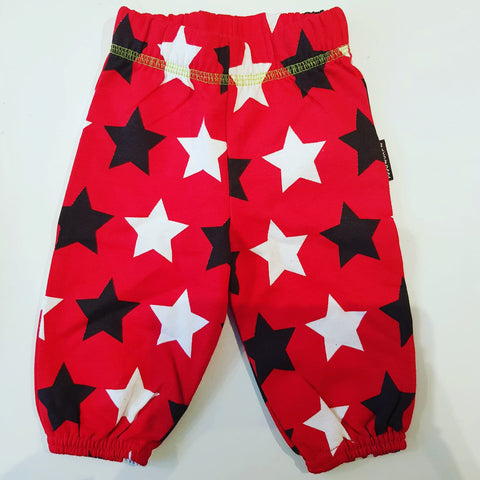 Maxomorra Pants Baby Star Red