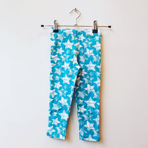 Maxomorra Leggings Star Turquoise