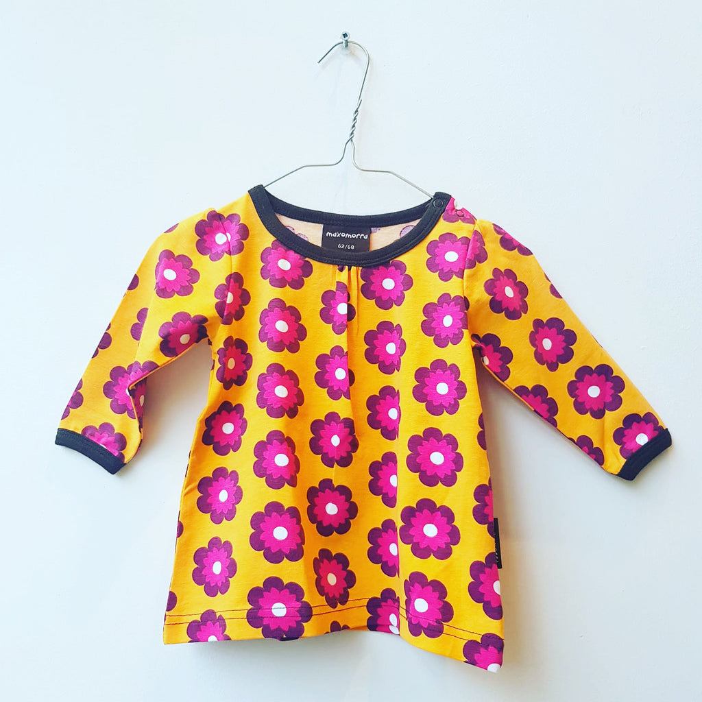 Maxomorra Top Gather LS Petunia - Longsleeve