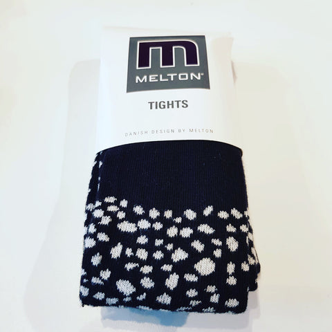 Melton - Tights Zwart Wit Dots