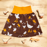 Muru - Skirt Brown with Goose