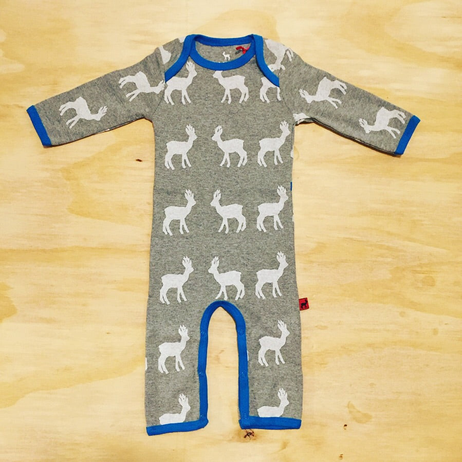 HJORTH Jumpsuit Grey Deer - Grijs Hertjes
