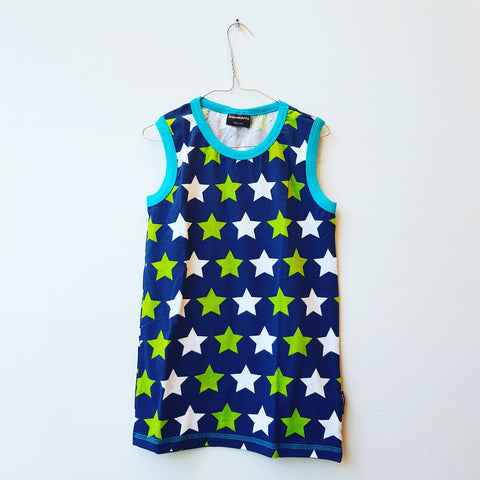 Maxomorra Tanktop Stars Blue/Green