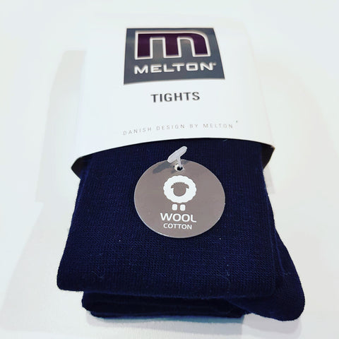 Melton - Tights Wool Dark Navy
