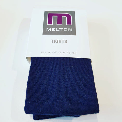 Melton - Tights Plain Dark Navy
